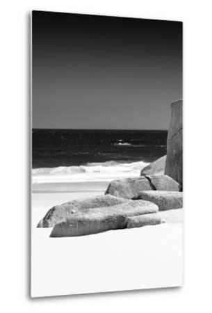 Awesome South Africa Collection B&W - Tranquil White Sand Beach II-Philippe Hugonnard-Metal Print