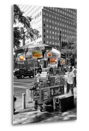 Safari CityPop Collection - NYC Hot Dog with Zebra Man-Philippe Hugonnard-Metal Print