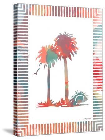 Watercolor Palms IV-Nicholas Biscardi-Stretched Canvas Print