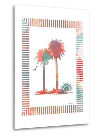 Watercolor Palms IV-Nicholas Biscardi-Metal Print