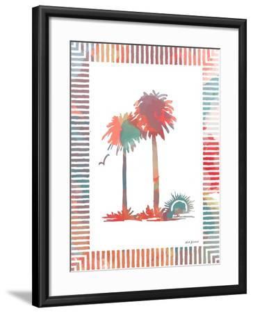Watercolor Palms IV-Nicholas Biscardi-Framed Art Print