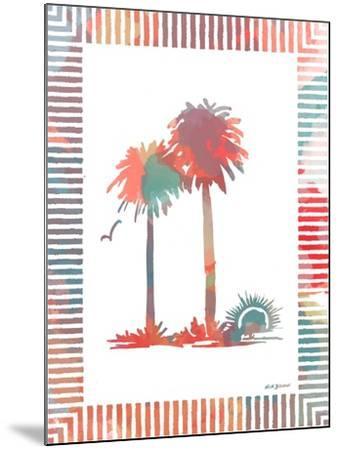 Watercolor Palms IV-Nicholas Biscardi-Mounted Art Print