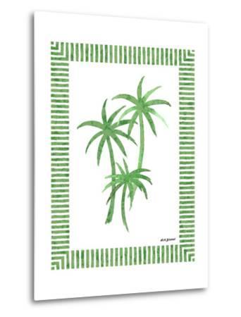Green Palms III-Nicholas Biscardi-Metal Print