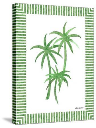 Green Palms III-Nicholas Biscardi-Stretched Canvas Print
