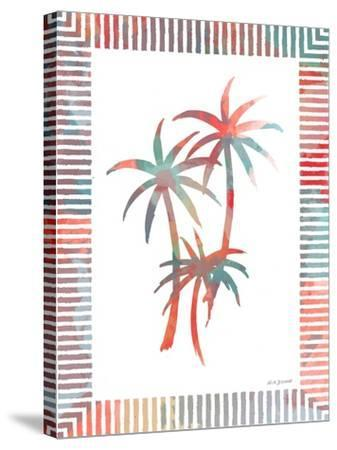 Watercolor Palms III-Nicholas Biscardi-Stretched Canvas Print