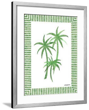 Green Palms III-Nicholas Biscardi-Framed Art Print