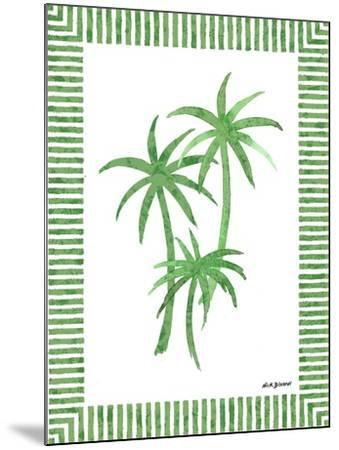 Green Palms III-Nicholas Biscardi-Mounted Art Print