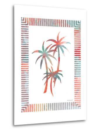Watercolor Palms III-Nicholas Biscardi-Metal Print