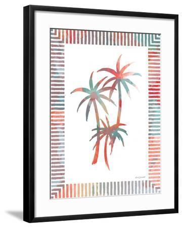 Watercolor Palms III-Nicholas Biscardi-Framed Art Print