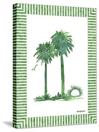 Green Palms IV-Nicholas Biscardi-Stretched Canvas Print