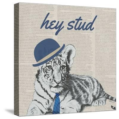 Stud Tiger-Vivien Rhyan-Stretched Canvas Print