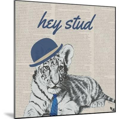 Stud Tiger-Vivien Rhyan-Mounted Art Print