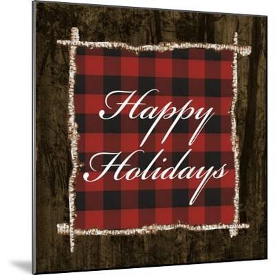 Happy Holidays on Plaid-Gina Ritter-Mounted Art Print