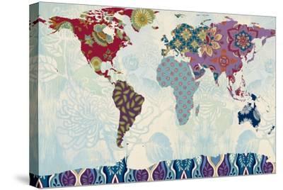 Patchwork World Map-Lanie Loreth-Stretched Canvas Print