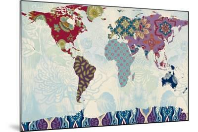 Patchwork World Map-Lanie Loreth-Mounted Art Print