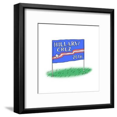 Hillary/Cruz 2016 - Cartoon-Kim Warp-Framed Premium Giclee Print