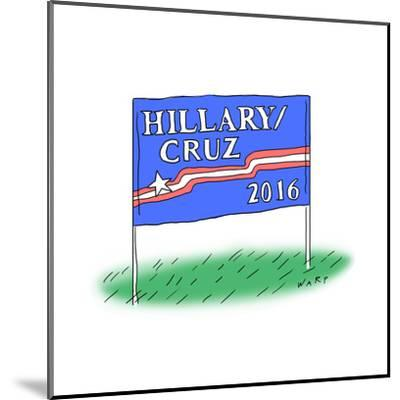 Hillary/Cruz 2016 - Cartoon-Kim Warp-Mounted Premium Giclee Print