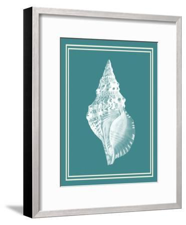 Mixed Nautical White on Teal c-Fab Funky-Framed Art Print