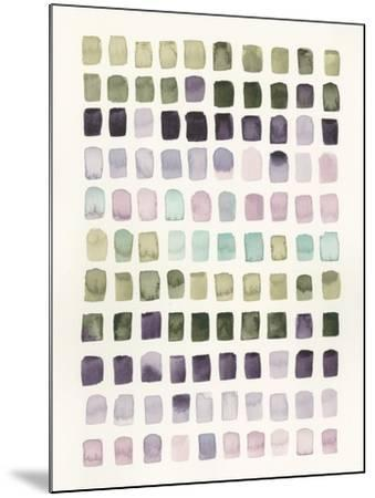 Serene Color Swatches I-Grace Popp-Mounted Art Print