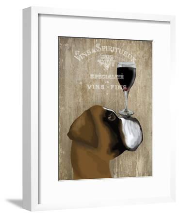 Dog Au Vin Boxer-Fab Funky-Framed Art Print