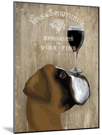Dog Au Vin Boxer-Fab Funky-Mounted Art Print