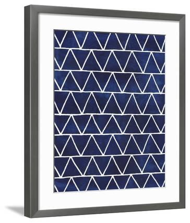 Indigo Pattern IV-Grace Popp-Framed Art Print