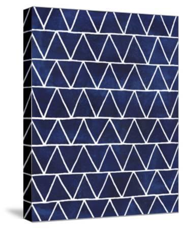 Indigo Pattern IV-Grace Popp-Stretched Canvas Print