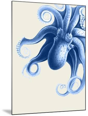Blue Octopus on Cream f-Fab Funky-Mounted Art Print