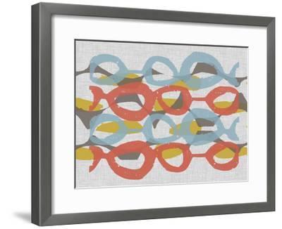 Mid Century Pattern II-Jennifer Goldberger-Framed Art Print