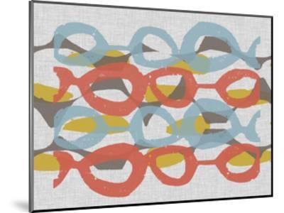 Mid Century Pattern II-Jennifer Goldberger-Mounted Art Print