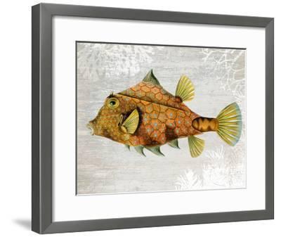 Gold Turret Fish-Fab Funky-Framed Art Print