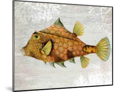 Gold Turret Fish-Fab Funky-Mounted Art Print