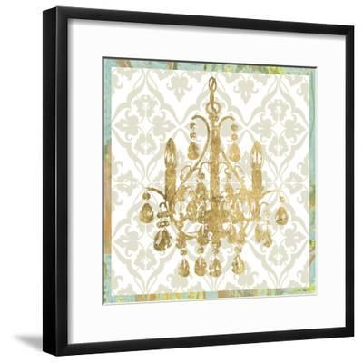 Damask Chandelier IV-Jennifer Goldberger-Framed Art Print