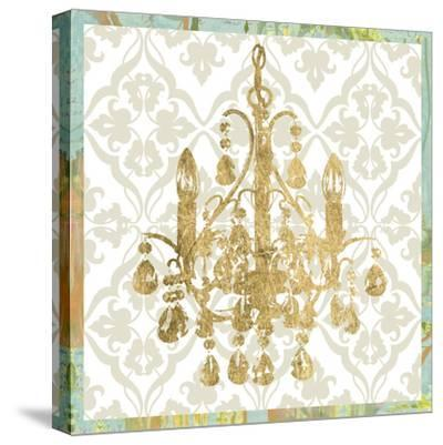 Damask Chandelier IV-Jennifer Goldberger-Stretched Canvas Print