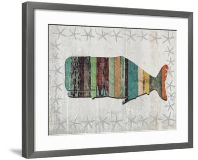 Distressed Wood Style Whale 1-Fab Funky-Framed Art Print