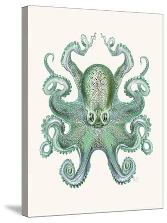 Turquoise Octopus and Squid a-Fab Funky-Stretched Canvas Print