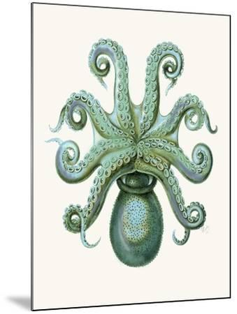 Turquoise Octopus and Squid c-Fab Funky-Mounted Art Print