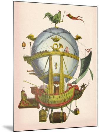 Minerve Hot Air Balloon-Fab Funky-Mounted Art Print