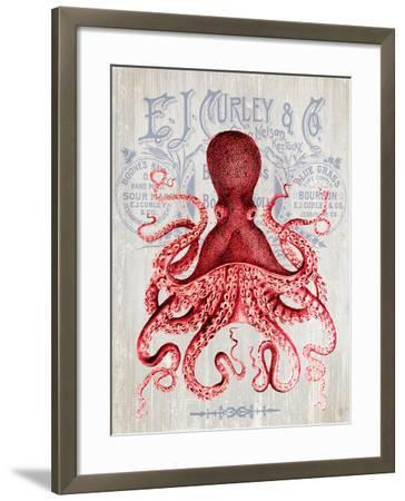 Octopus Prohibition Octopus On White-Fab Funky-Framed Art Print