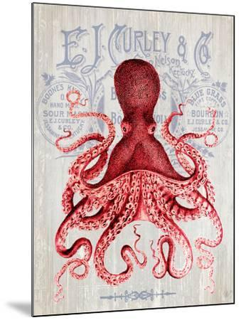 Octopus Prohibition Octopus On White-Fab Funky-Mounted Art Print