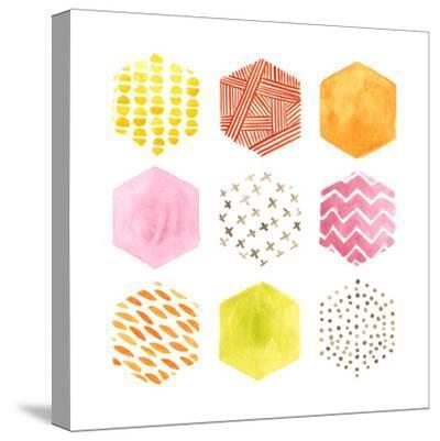 Honeycomb Patterns II-June Vess-Stretched Canvas Print