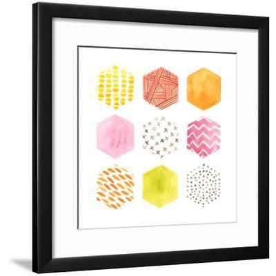Honeycomb Patterns II-June Vess-Framed Art Print