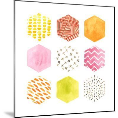 Honeycomb Patterns II-June Vess-Mounted Art Print