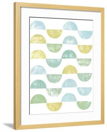 Semi Circle Block Print I-Grace Popp-Framed Art Print