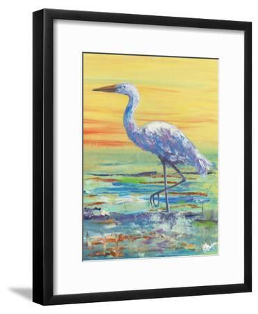 Egret Sunset II-Olivia Brewington-Framed Art Print