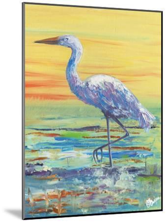 Egret Sunset II-Olivia Brewington-Mounted Art Print