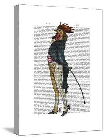 Cockerel with Spurs-Fab Funky-Stretched Canvas Print