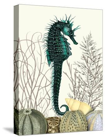 SeaHorse and Sea Urchins-Fab Funky-Stretched Canvas Print