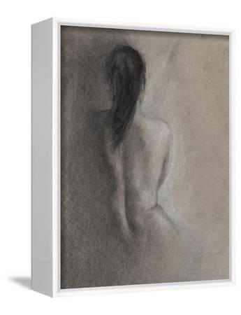 Chiaroscuro Figure Drawing II-Ethan Harper-Framed Stretched Canvas Print
