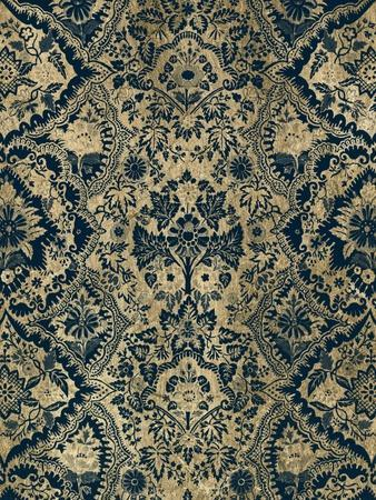 Baroque Tapestry in Aged Indigo I-Vision Studio-Framed Art Print